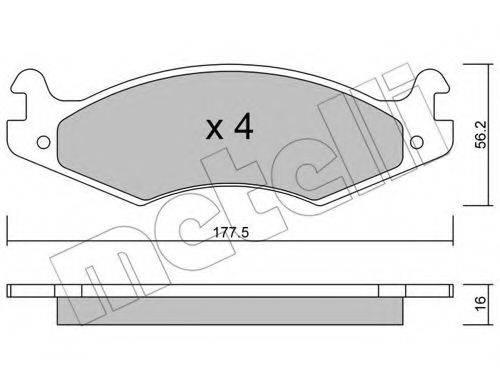 METELLI 2201330 Комплект тормозных колодок, дисковый тормоз