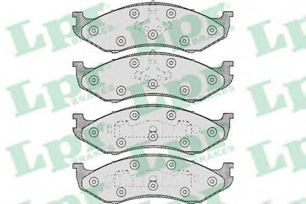 LPR 05P459 Комплект тормозных колодок, дисковый тормоз