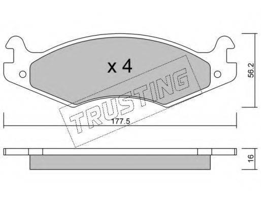 TRUSTING 1350 Комплект тормозных колодок, дисковый тормоз