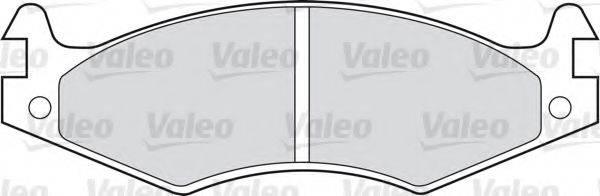 VALEO 598595 Комплект тормозных колодок, дисковый тормоз