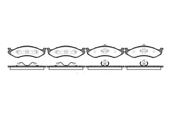 KAWE 046700 Комплект тормозных колодок, дисковый тормоз