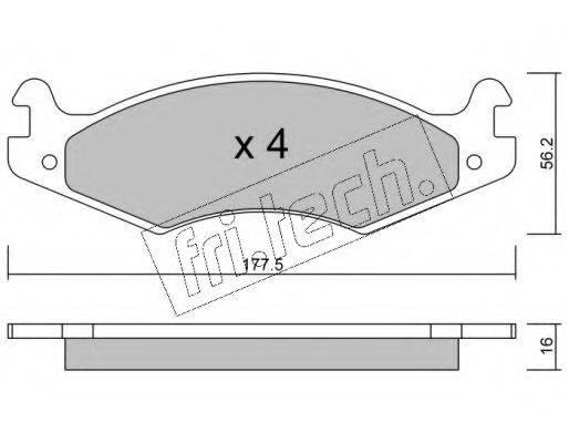 FRI.TECH. 1350 Комплект тормозных колодок, дисковый тормоз