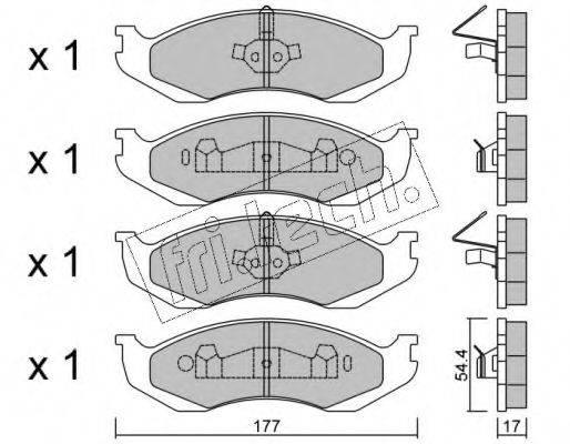 FRI.TECH. 2270 Комплект тормозных колодок, дисковый тормоз