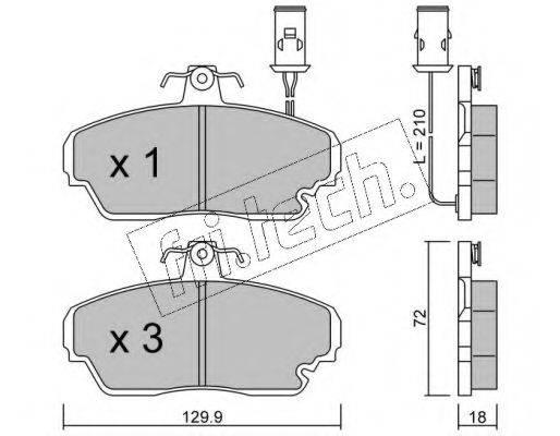 FRI.TECH. 7060 Комплект тормозных колодок, дисковый тормоз