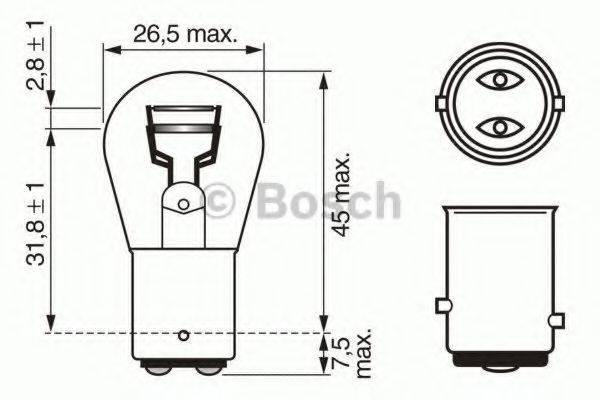 BOSCH 1987302282 Лампа накаливания, фонарь сигнала тормож./ задний габ. огонь