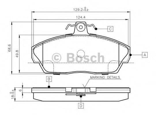 BOSCH 0986TB2189 Комплект тормозных колодок, дисковый тормоз