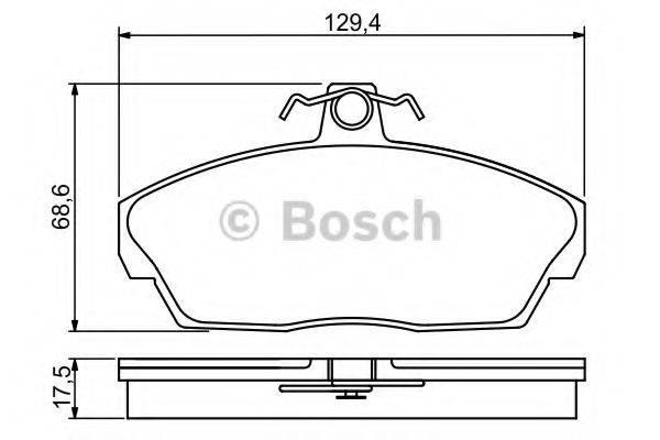 BOSCH 0986495228 Комплект тормозных колодок, дисковый тормоз