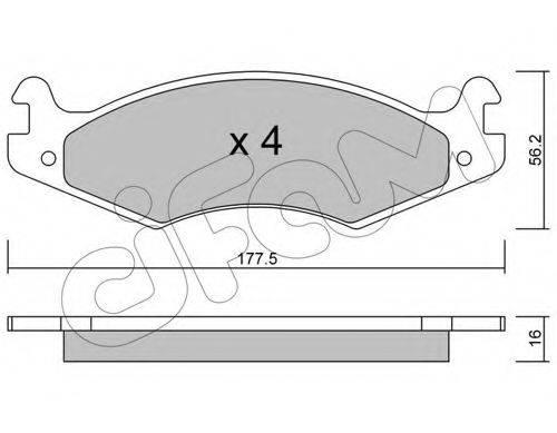 CIFAM 8221330 Комплект тормозных колодок, дисковый тормоз