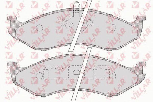 VILLAR 6260896 Комплект тормозных колодок, дисковый тормоз