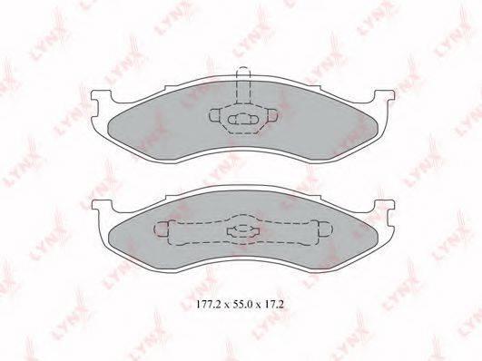 LYNXAUTO BD4200 Комплект тормозных колодок, дисковый тормоз