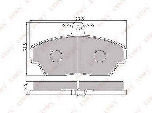 LYNXAUTO BD4604 Комплект тормозных колодок, дисковый тормоз