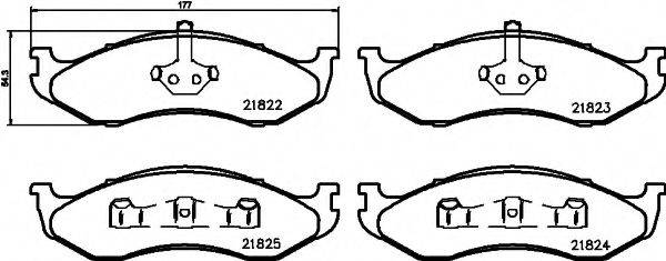 HELLA PAGID 8DB355008231 Комплект тормозных колодок, дисковый тормоз