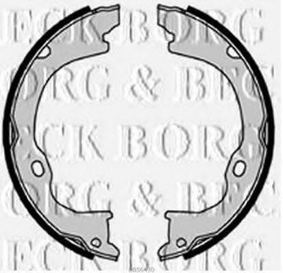 BORG & BECK BBS6430 Комплект тормозных колодок
