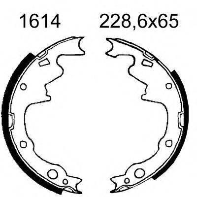 BSF 01614 Комплект тормозных колодок