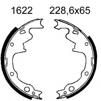 BSF 01622 Комплект тормозных колодок