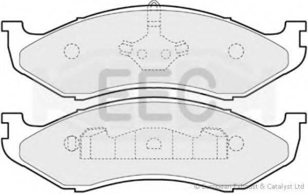 EEC BRP0852 Комплект тормозных колодок, дисковый тормоз