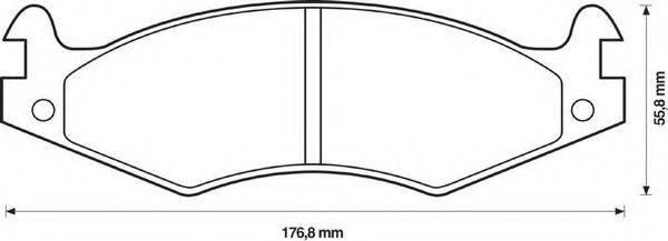 BENDIX 571424B Комплект тормозных колодок, дисковый тормоз