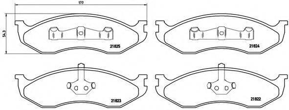BREMBO P37004 Комплект тормозных колодок, дисковый тормоз