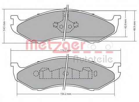 METZGER 1170452 Комплект тормозных колодок, дисковый тормоз